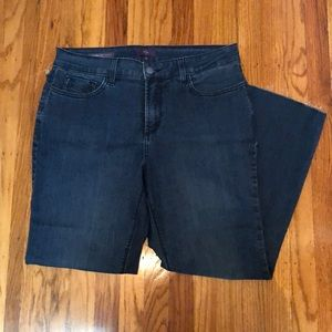NYDJ Marilyn straight raw edge jeans size 12